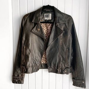 Kut from the Kloth Faux Leather Moto Jacket